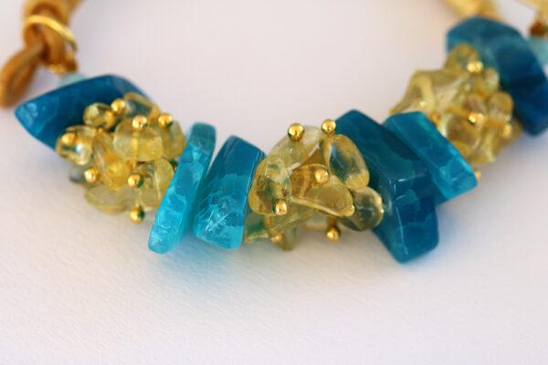 Agate & Citrine Bracelet