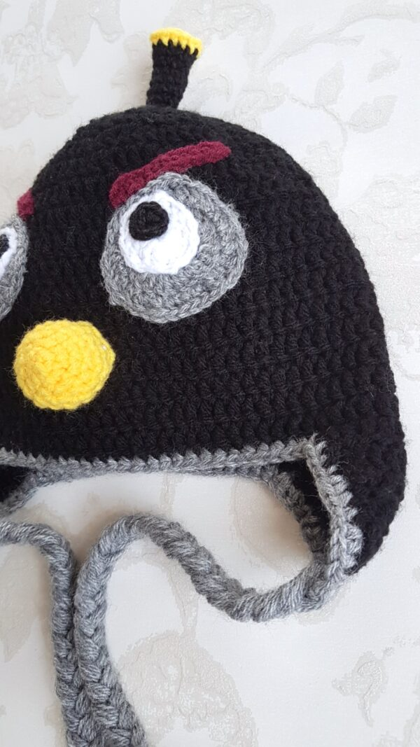 Angry Bird Crocheted Hat