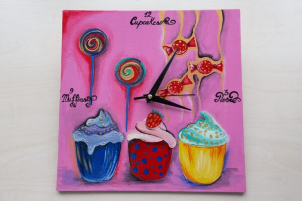 Cute Sweets Painted Clock