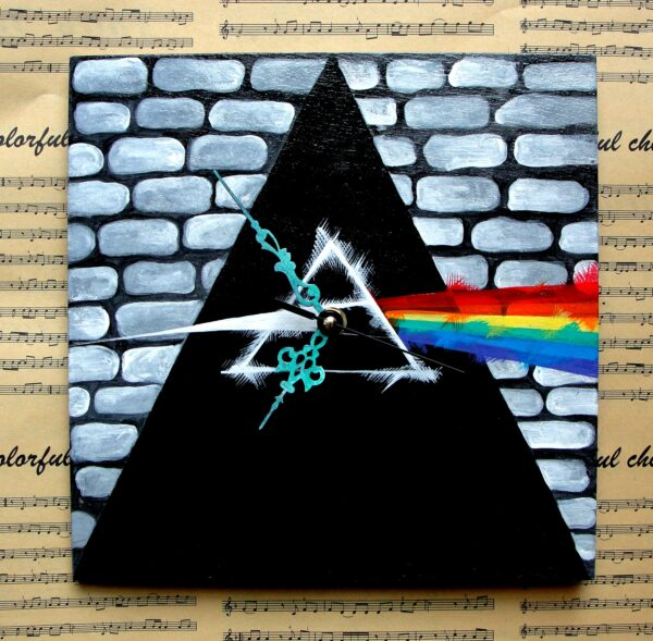 Pink Floyd Painted Clock
