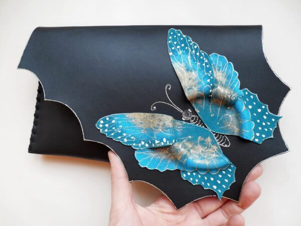 Turquoise Butterfly Clutch