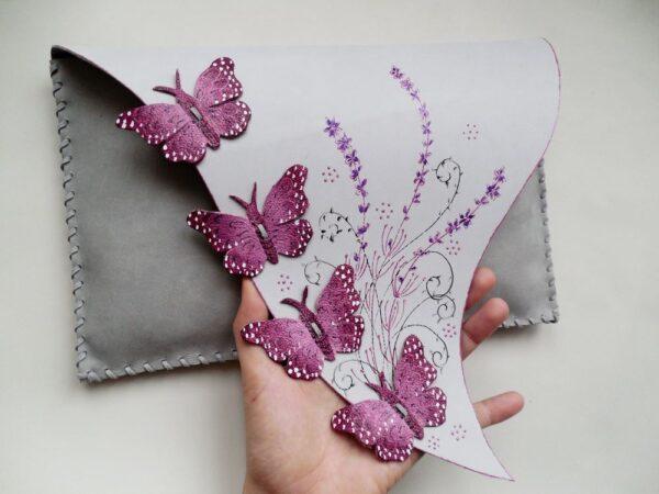 Pink Lavender Clutch