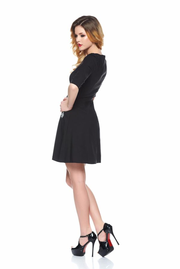 Mystic Line Special Black Embroidered Dress