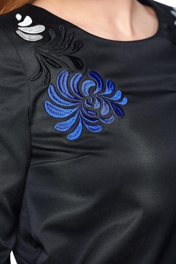 Mystic Line Glamour Black Embroidered Dress