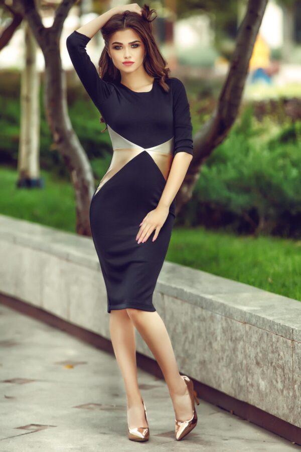 Kaleidoscop Sensation Black Dress
