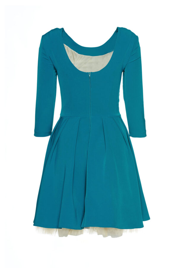 Theo Rose Girly Turquoise Embroidered Dress