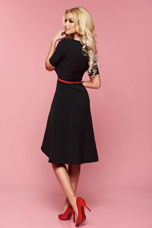 Black Dress Manual Sewed Embroidery