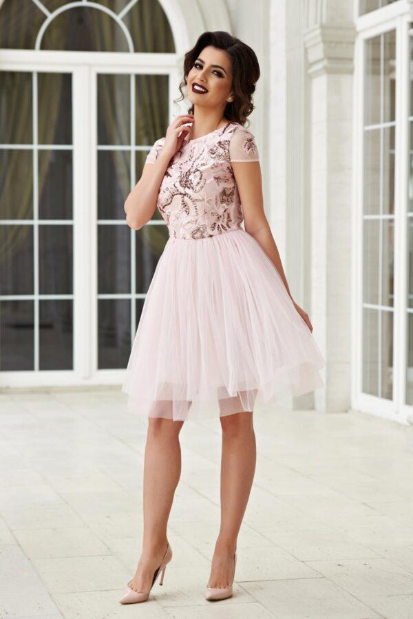 Short Occasional Rosa Cloche Dress