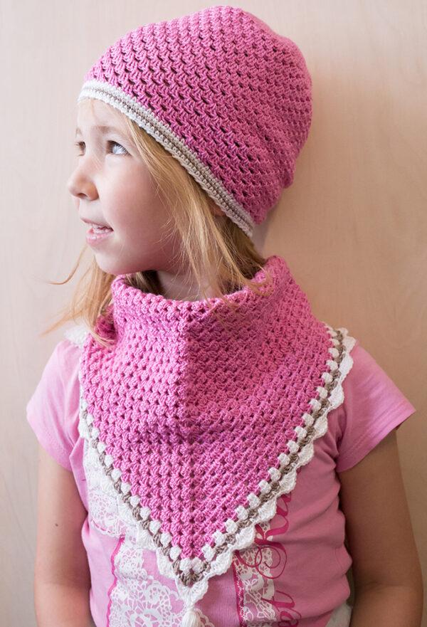 Crochet Pink Scarf