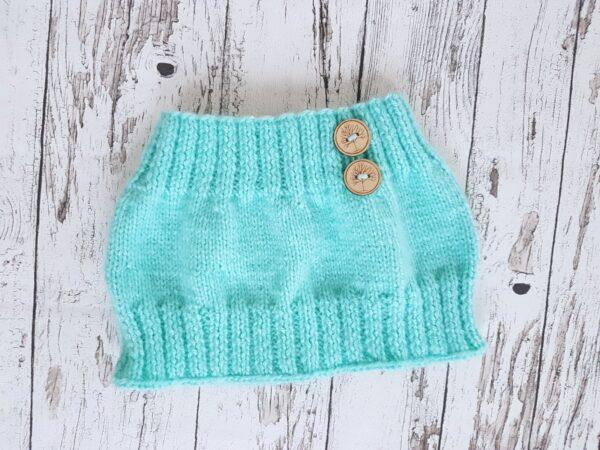 Knitted Warmer Acqua