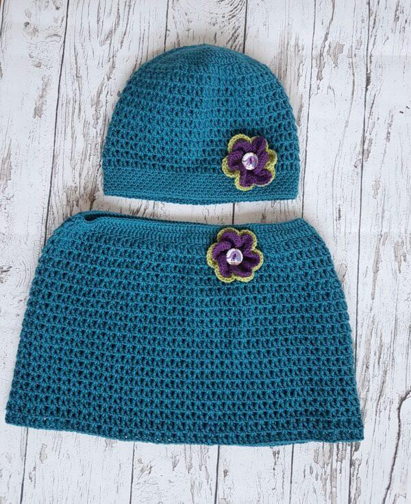 Elegant Crochet Blue Warmer