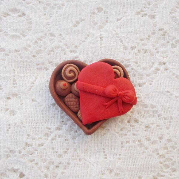 Chocolate Box Fimo Brooch