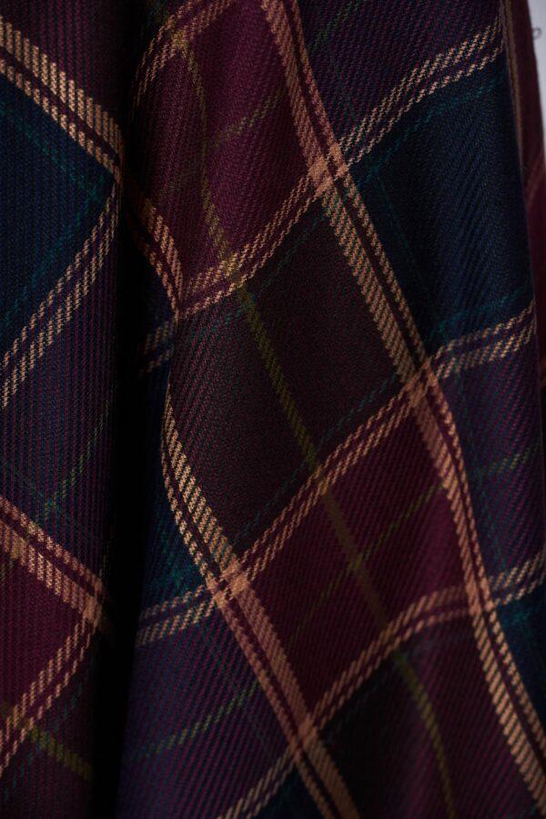 Burgundy skirt office cloche cotton