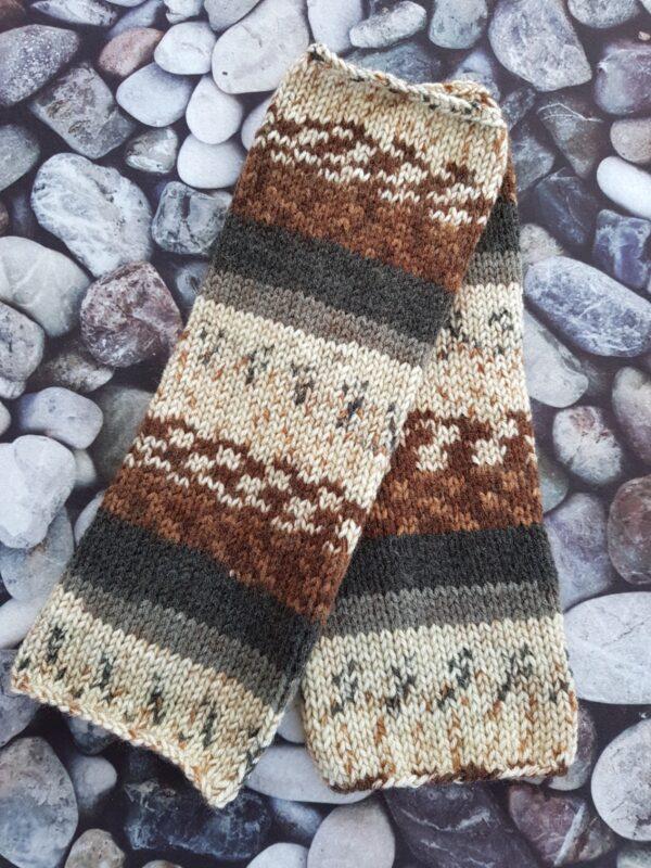Brown Gray Leg Warmer
