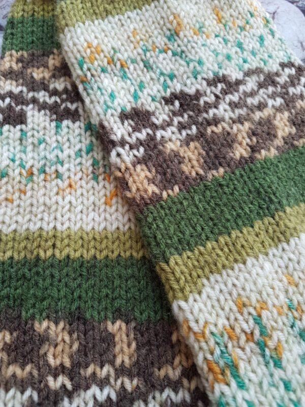 Green Shades Leg Warmer