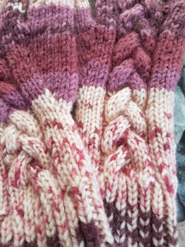 Violet Nuances Fingerless Gloves