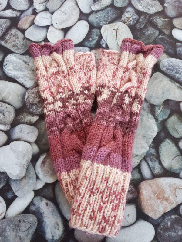 Violet Nuances Fingerless Mittens