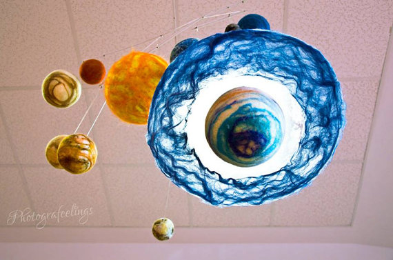 Solar System - Felted Planets