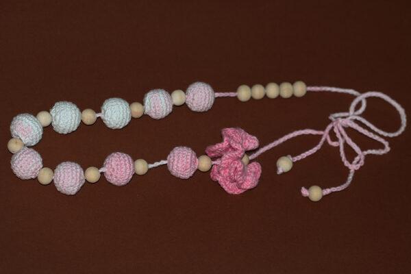 Nursing Necklace Pink Flower