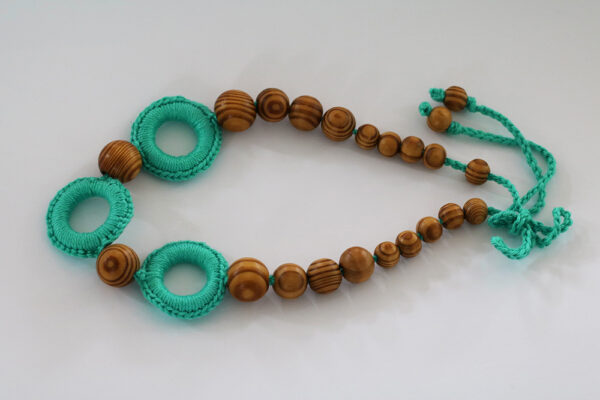Nursing Necklace Turquoise Circles
