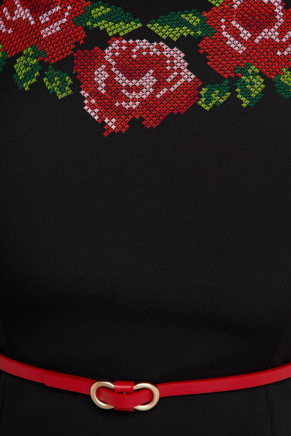 Black Dress Embroidered Occasional Cloche Cloth Thin Fabric