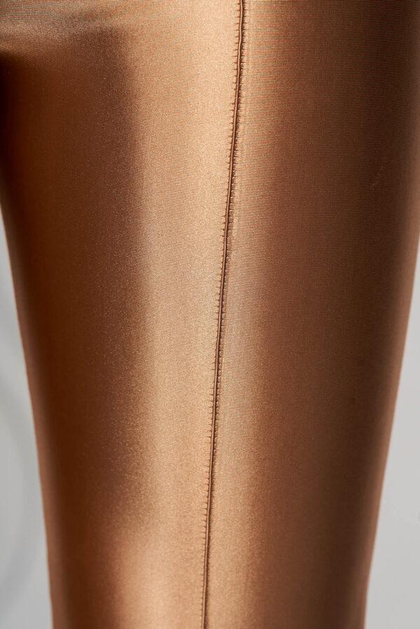 Gold Trousers Slightly Elastic Fabric Elegant Conical