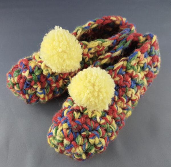 Yellow Pompom Slippers