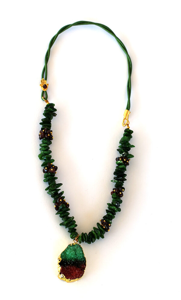 Diopside And Granite Necklace