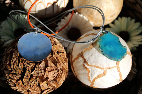Hand-Painted Agate Collar