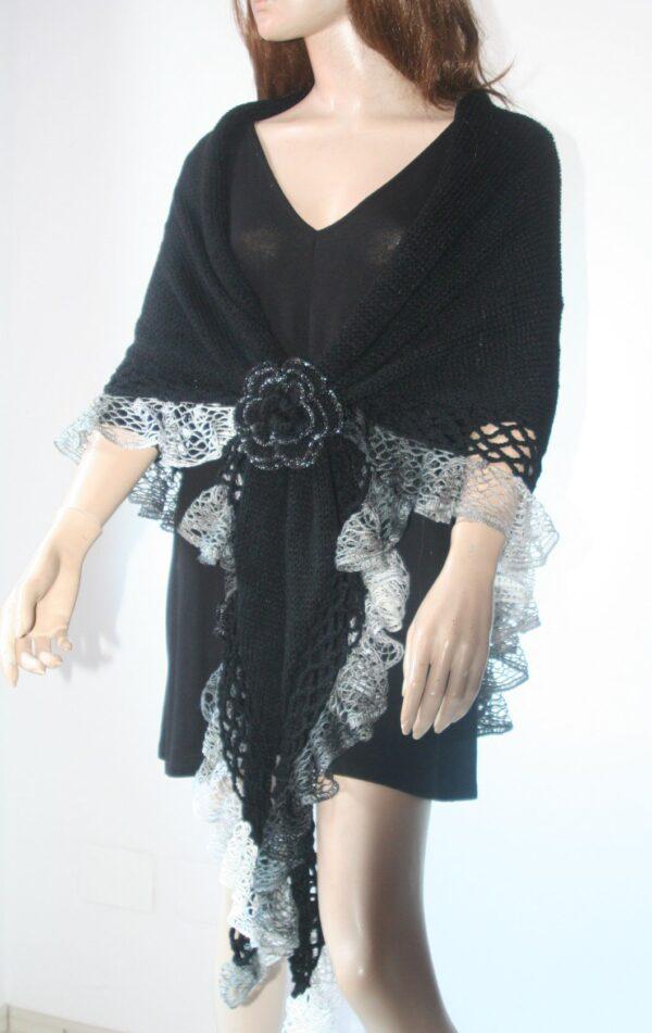 Elegant Black Shawl