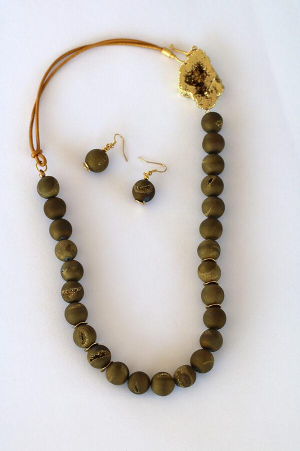 Agate Druzy Metallic Set