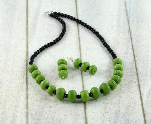 Green Turquoise - Black Onyx Set