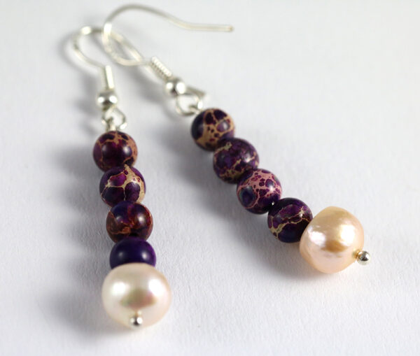 Imperial Jasper-Regalite- Cultured Pearl