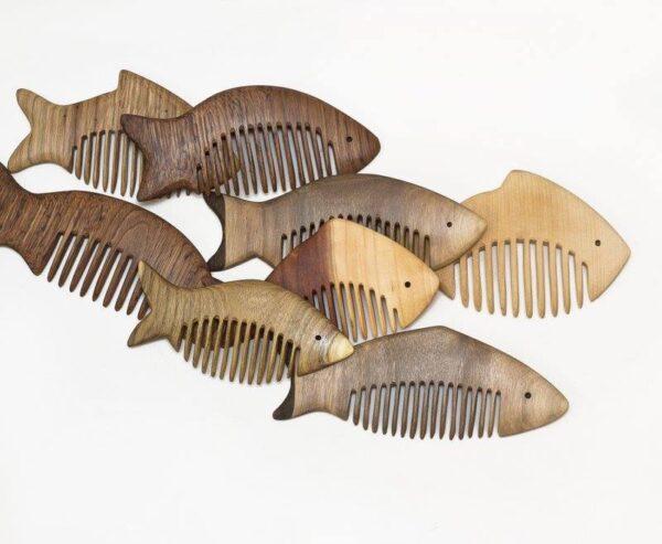 Handmade Dark Fish Comb